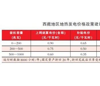 """王善民:建议西藏""""十四五""""出台<em>地热</em>发电价格政策"""