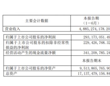 淮河能源2020年上半年净利2.93亿下滑33.42%<em>煤炭</em>销售收入减少