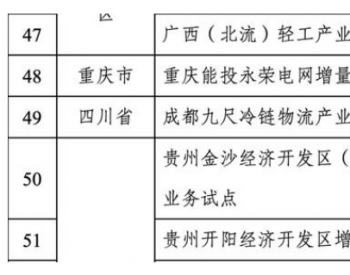 第五批<em>增量配电业务改革试点项目</em>名单出炉,四川一个项目入围