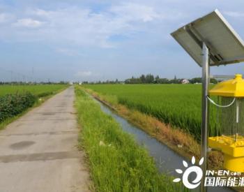 """上海嘉定试点安装太阳能杀虫灯,让良田更""""绿"""""""