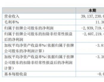 祥龙电力2020年上半年亏损293.97万由盈转亏 研发费用与<em>管理</em>费用上升