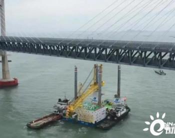 华电稳强号自提升平台度过平潭大桥 采用<em>润邦</em>GGENMA自提升系统和GENMA海洋起重机