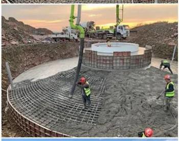 48MW,华电科工新能源公司总承包建设的辽宁阜新娘及营子风电项目全部<em>风机</em>基础浇筑完成