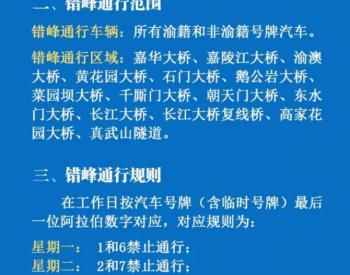重庆计划实施错峰通行 <em>新能源</em>牌照不受限制