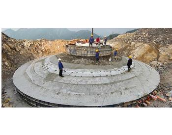 中国能建山西电建承建华电山西定襄风电项目风机基础浇筑完成