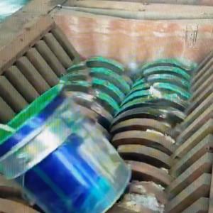 油漆桶大型双轴撕碎机