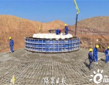 山西<em>阳泉</em>李家山50MW风电场项目整体转入<em>风力发电</em>机组的吊装施工