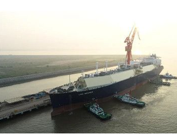 沪东中华YAMAL LNG4号船开始气体<em>试航</em>