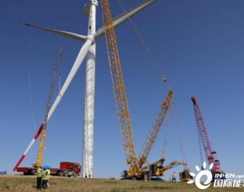 200MW!中国能建东电一公司承建内蒙古阿巴嘎旗风电项目34台风机安装完成