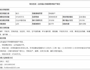 山东临沂市新建热电联产项目