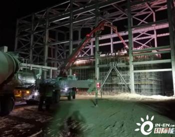 迪拜200MW槽式光热发电项目PT1汽轮机基座顺利浇筑