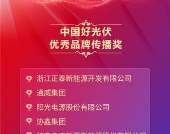 中国好光伏—优秀品牌传播奖排名