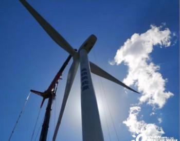 """山西威顿新能源""""乡宁一期50MW风电项目""""风机吊装全部完成"""