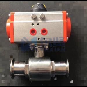 Q681F-16PRLQ681F-10P气动卡盘球阀卡箍
