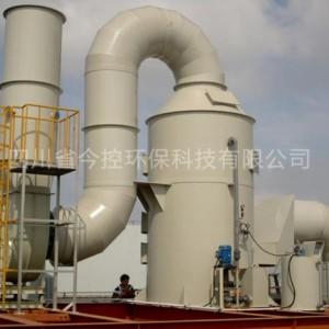 制药厂酸雾废气处理设备 PP喷淋塔-四川玻璃钢净化塔