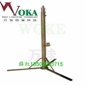 10米20米新疆自锁快装式避雷针 力本移动升降立柱避雷针