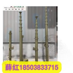 力本升降避雷针 15米移动升降立柱避雷针 碳纤维天线升降杆