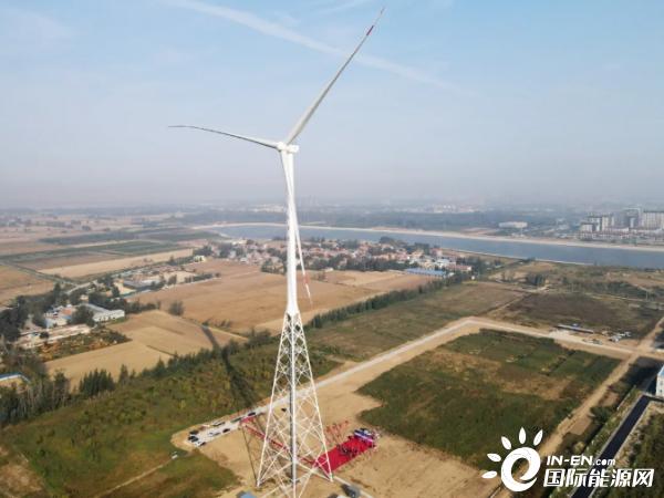 """全球首台160米""""预应力构架式钢管塔架""""风电机组并网"""