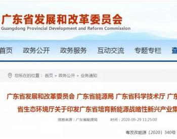 海上风电首位!《广东省培育新能源战略性新兴产业集群行动计划(2021—2025年)》印发