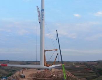 太原重工70MW自建风电场项目完成风机吊装
