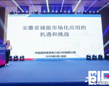 中能建安徽院孟祥娟:安徽省储能市场化应用的机遇和挑战