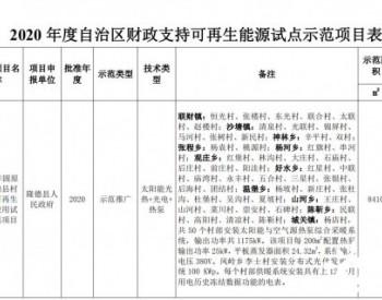 9个光热项目入围宁夏今年可再生能源试点示范项目名单