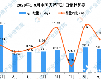2020年9月中国<em>天然气进口</em>数据统计分析
