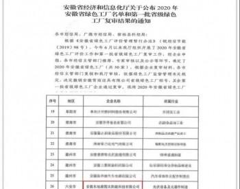 """再添荣誉   东旭康图获评2020年度省级""""绿色工厂"""