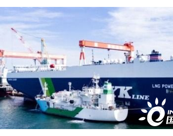 """日本首艘LNG加注船""""Kaguya""""号完成首次船对船"""