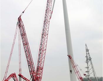 中国电建北方一电风电项目风机吊装完成