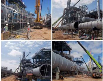 石化四建承建北海炼化改造催化装置启动大型设备吊