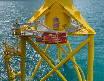 中国三峡参股的英国Moray East风电场100个三腿式导管架基础安装过半