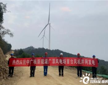 中广核<em>安徽</em>东至广潭50MW风电场首台风机成功并网投产