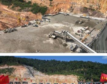 老挝南屯1水电站单线皮带机RCC浇筑创世界纪录