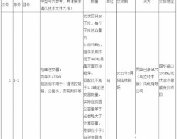 招标 | 国华投资公司2020年第一批光伏<em>并网逆变器</em>设备集中采购招标文件项目(第2次)招标公告