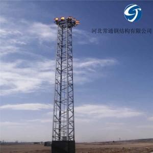 铁塔升降式投光灯塔21.5米定制安装