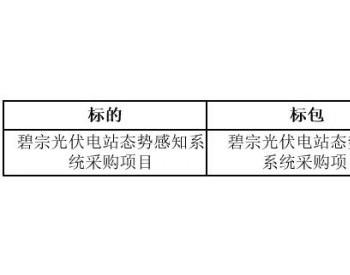 中标 | 云南碧宗光伏电站态势感知系统采购项目结