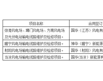 招标丨<em>国华投资</em>国华(江苏)风电有限公司2021-2023年风电场输电线路维护及检修公开...