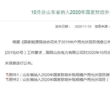 山東國網公布10月新增<em>戶用</em>裝機568MW!累計2.8GW!
