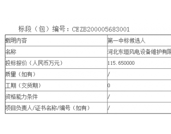 中标丨国华投资山东公司2020年度金风风机定期维护<em>服务</em>公开招标中标候选人公示