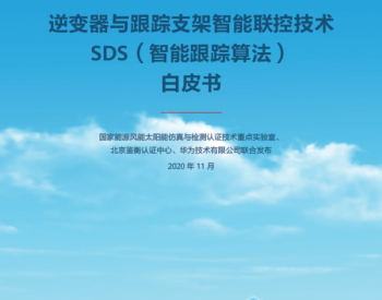 权威发布!逆变器与跟踪支架智能联控技术SDS(智能跟踪算法)白皮书