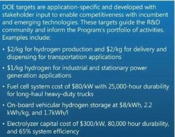 美国能源部发表<em>氢能项目</em>计划:车载氢气成本降至8美元/千瓦时