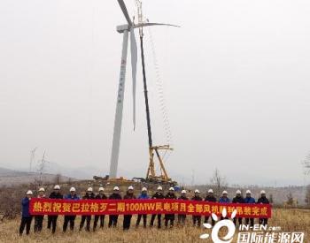 内蒙古科右前旗风电项目,中<em>电建核电</em>施工42台风机全部顺利吊装!