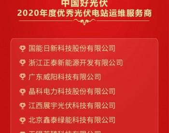 2020中国好光伏——优秀<em>光伏电站运维</em>服务商