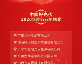 2020中国好光伏——行业新锐奖