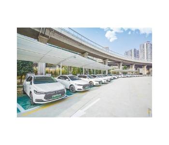 河南郑州市一座超大型新能源充电站落户中原区