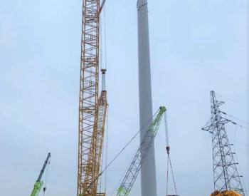 47.5MW!中广核江苏涟水唐集项目风机吊装全部完成