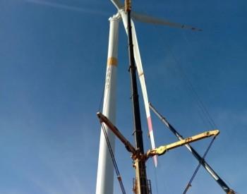 50MW,<em>华润电力</em>山西阳曲杨兴风电项目风机全部吊装完成