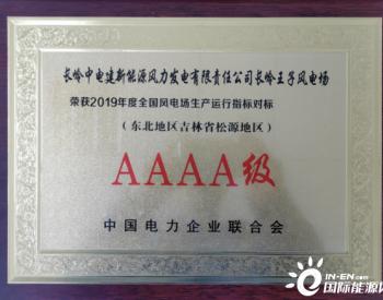 中国电建东北分公司两风电场荣获<em>中电联</em>AAAA级优胜风电场