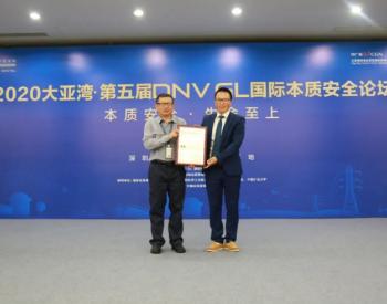 <em>大亚湾核电</em>获颁SHE国际标杆评级9级证书